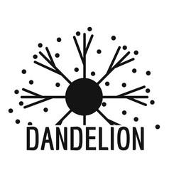 Dandelion logo icon simple style vector