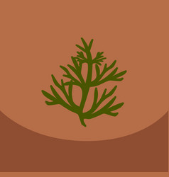 Dill on color background vector