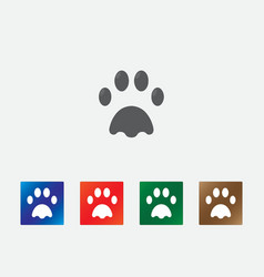 Dog print icons vector