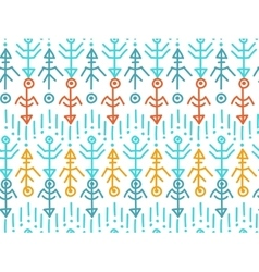 Ethnic seamless pattern aztec background vector