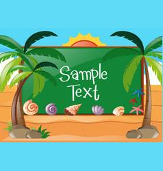 Frame design with beach theme vector