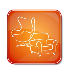 Icon for furniture vector