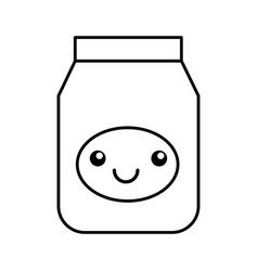 Kawaii jelly jar cartoon vector