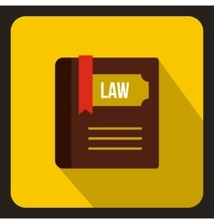 Law book icon in flat style vector