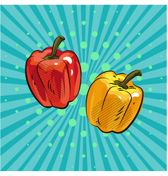 pepper paprika pop art comic style hand drawn vector image vector image