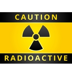 Radioactive hazard sign vector