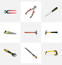 realistic carpenter claw tongs and other vector image