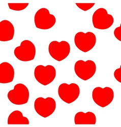 Red hearts repeat pattern - red and white vector image vector image