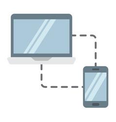 responsive web design flat icon seo development vector image