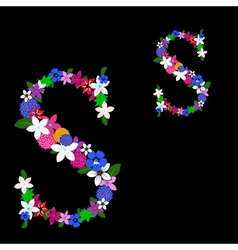 s letter vector image