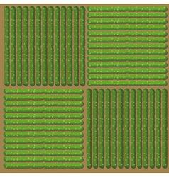 Simple pattern of crop vector