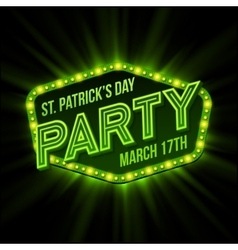 St Patrick Day poster vector image
