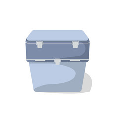 Travel cooler box isolated icon vector