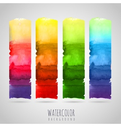 Watercolor abstract background seasons vector