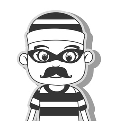 Icon man criminal thief stealing isolated vector