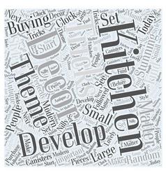 Kitchen decor word cloud concept vector