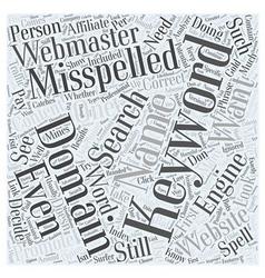 Misspelled domain names word cloud concept vector