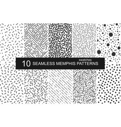 Swatches memphis patterns - seamless retro vector