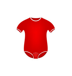 Clothing for newborn in red design vector