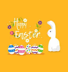 Happy easter card design for spring holiday vector