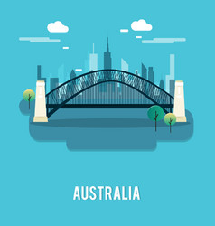 sydney harbour bridge bautiful place australia vector image