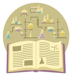 Textbook on chemistry vector
