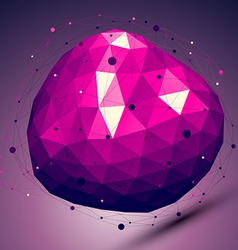 Purple geometric abstract 3d complicated lattice vector