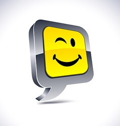 Smiley 3d balloon button vector