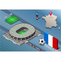 Isometric soccer stadium - stadie de france paris vector