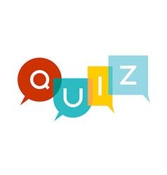 Quiz letters vector