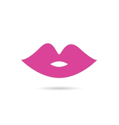 Lips pink color vector