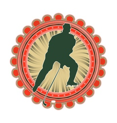 Sport emblem ice hockey vector
