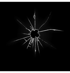 Broken glass on black background vector