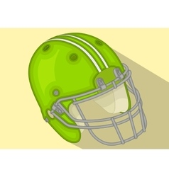 American football helmet isometric flat vector
