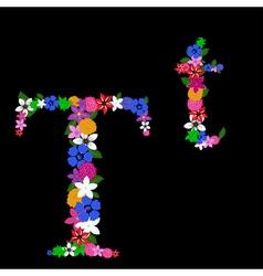 T letter vector