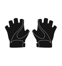 bike hand gloves for cyclists protective vector image