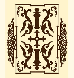 Brown ancient vintage ornament on sand background vector