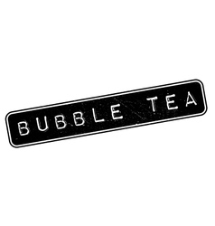 Bubble tea rubber stamp vector