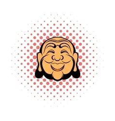 Buddha head comics icon vector image vector image