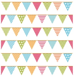 Bunting seampless pattern vector