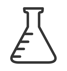 Chemistry flask icon in black and white colors vector image vector image