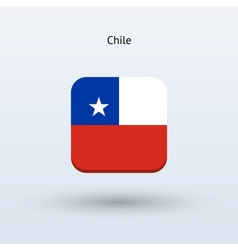 Chile flag icon vector