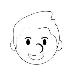 cute man cartoon icon image vector image vector image