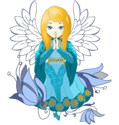 Cute Praing Angel cartoon vector image