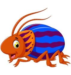 cute saperda beetle cartoon posing vector image