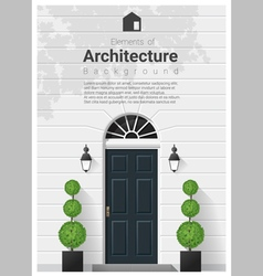 Elements of architecture front door background 16 vector image vector image