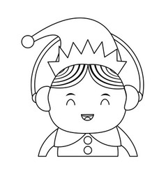 Elf or santas helper wearing ear muffs christmas vector