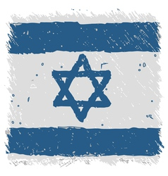 Flag of Israel handmade square shape vector image vector image