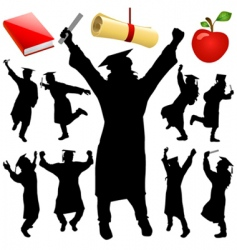graduation set vector image vector image