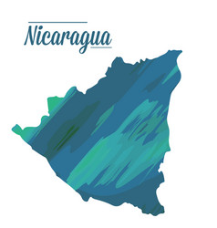 isolated nicaragua map vector image vector image